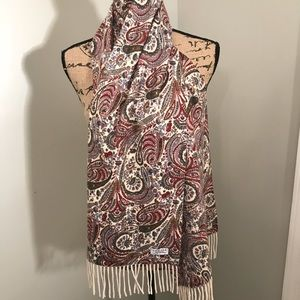 AMICALE, Fringed Scarf, 100 % Cashmere!